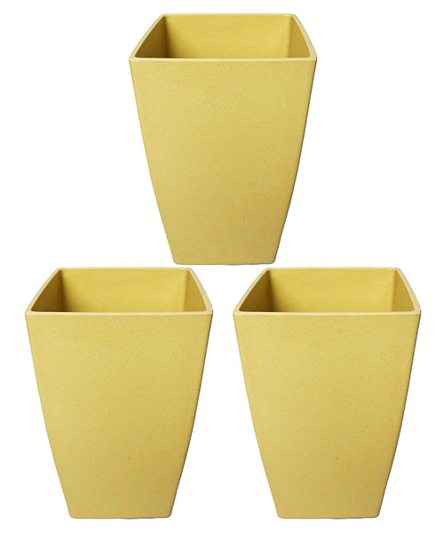 Set of 3 Tall Biodegradable Bamboo Planter! Perfect for All of Your Gardening Needs! Measures - 4.88inx8.07in