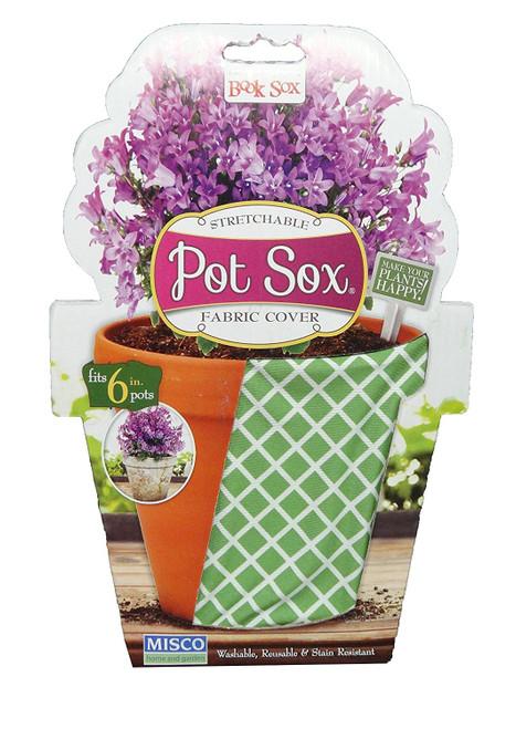 """Set of 2-10"""" Trellis Green Design Home and Garden Modern Pot Sox Flowerpot Covers"""