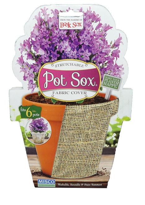 """Set of 2-10"""" Burlap Design Home and Garden Modern Pot Sox Flowerpot Covers"""