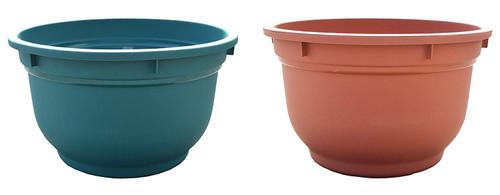 """Round Plastic Planter/Pots! 15""""x 9"""" - Choose your Color!"""