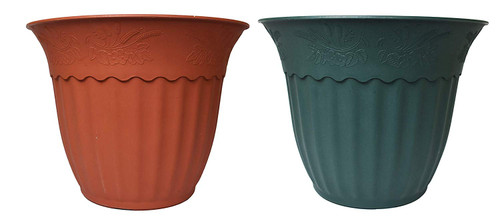 """Single Round Green Eco-Friendly Planters! 19.75""""X16h"""" - Chose Your Color!"""