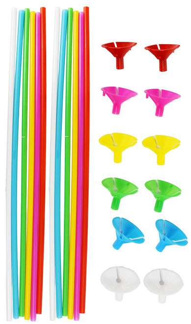 """Set of 12 Balloon Sticks with Cups 6 Pack 12"""""""