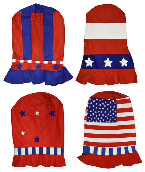 Set of 4 Patriotic Party Top Hats!