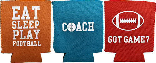 Set of Sport Can and Bottle Coolers!  Neoprene Fabric That Fits Most Bottles and Cans!