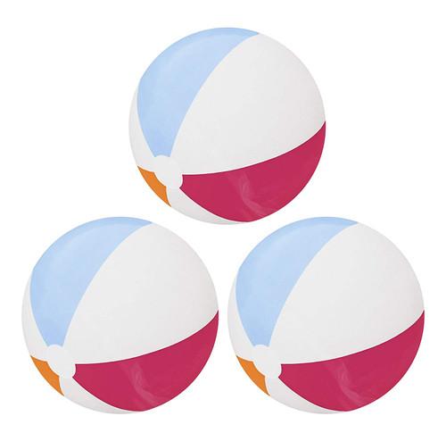 "Set of 3 Inflatable 20"" Diameter Beach Balls"