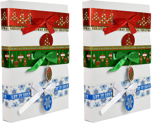 Holiday Gift Box Bands - Great Way to Decorate Plain Clothing Boxes!