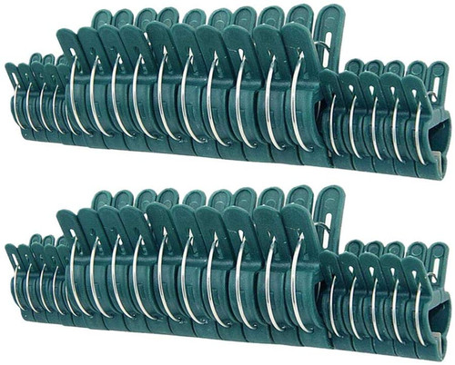 80 Piece Green Gentle Gardening Plant & Flower Lever Loop Gripper Clips, Tool for Supporting or Straightening Plant Stems, Stalks, and Vines