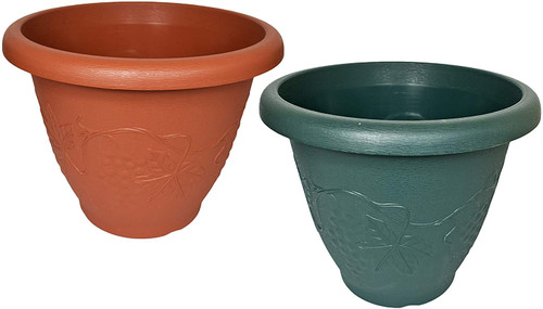 Save to Droplist Click image to open expanded view    Set of 2 Round Planter/Pots! Perfect for Both Indoor and Outdoor Plants!