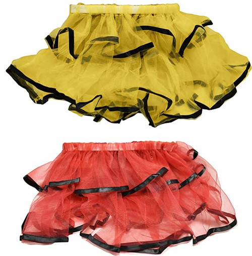 """Set of 8"""" X 10"""" Lady Bug and Bumblebee Themed Halloween Skirts! Perfect for Halloween or Dress-up!"""
