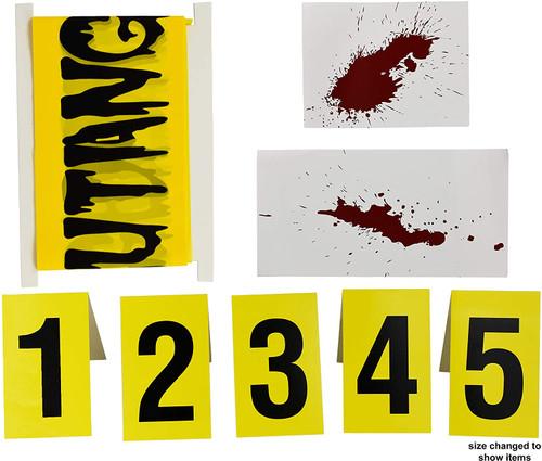 Set of Halloween Crime Scene Decoration Kits Police Crime Scene Decor!