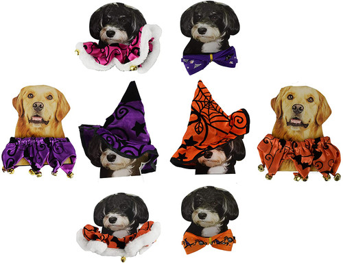 Set of Halloween Pet Accessories! Purrfect for You and Your Favorite Furry Friend!