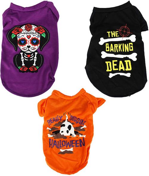 "Set of Halloween Dog T-Shirts! Fits 14.6""x8.7"" - Adorable Halloween Dog Shirts!"
