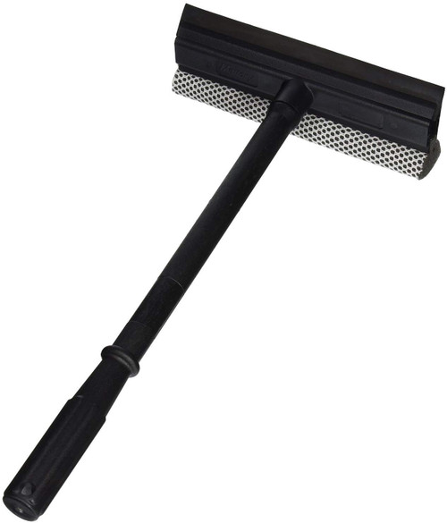 Window and Windshield Cleaning Sponge and Rubber Squeegee