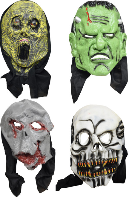 Set of Deluxe Creature Masks! Scary Styles Perfect for Halloween