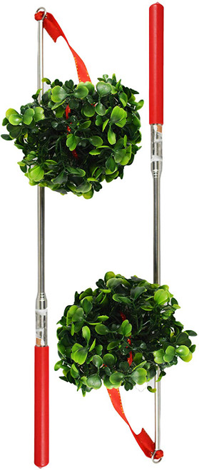 Extendable Mistletoe Rods - Great for Christmas Games and Gags! - Great Party Toy!
