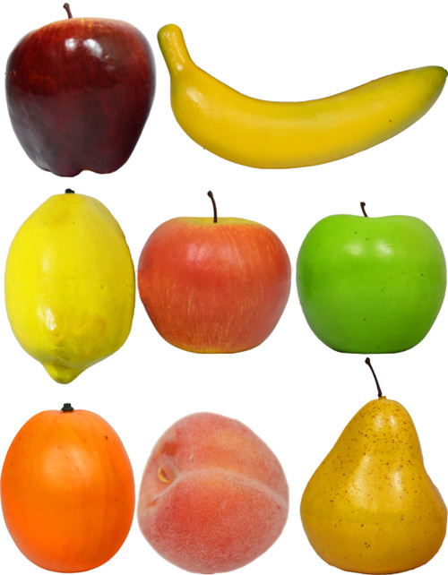 Decorative Life Size Fruit - You Pick - Apples, Bananas, Peaches, Oranges, and Pears - Realistically Colored and Sized Fruit - Great for Decorating your Home, Creating a Store Display, and Photo Props