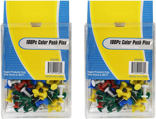 Multi-Colored Push Pins - Small Sized! Great for The Office Oat at Home
