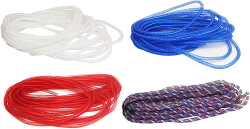 Mesh Decorative Tubing - Red, White, and Blue - Perfect for Arts & Craft Projects or Patriotic Decoration
