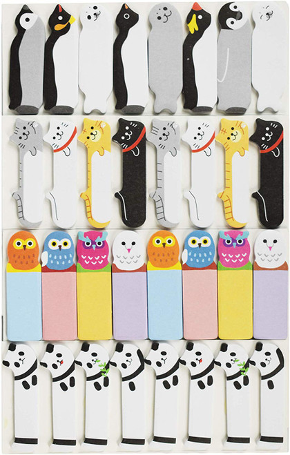 Animal Themed Sticky Note Page Markers/Flags - Cats, Panda, Owl, and Sea Animal Themed!