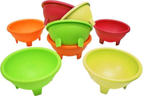 "Set of 8 Multi Color Black Duck Brand 4.5"" Diameter Salsa Bowls - Serving Bowls - Dipping Bowls"