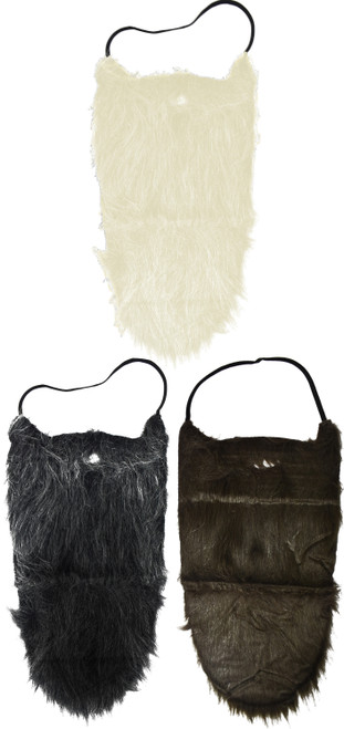 Set of Faux Beards - Brown, White, and Grey - Great for Fun Additions to Costumes and Cosplays! - Lumberjack & Old Man Costume