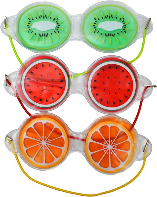 Fruit Themed Gel Eye Masks - Hot / Cold Face Masks - Relieves Tired, Swollen, and Dry Eyes!