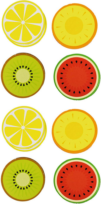 Fruit Themed Coasters Great For Summer Parties - 3.5 Inch Paper Coasters Doubled Sided