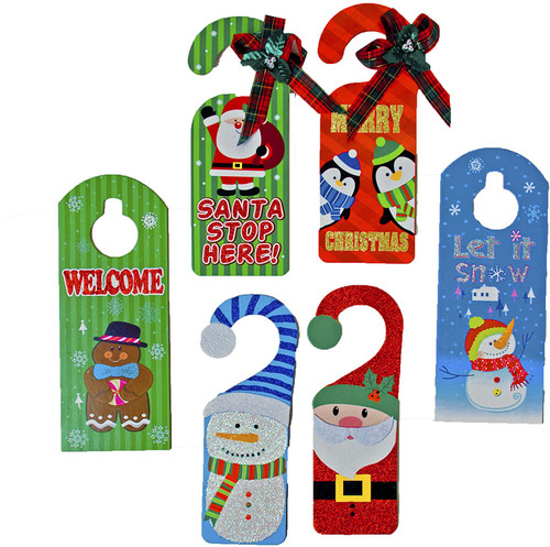 Set of Fun Holiday Door Hangers - Each Color Has Two Different Designs!