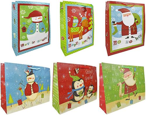 Set of Assorted Jumbo Christmas Gift Bags!