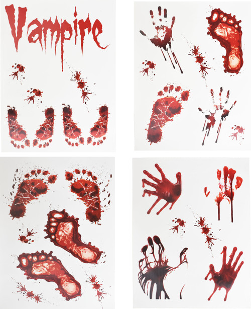 """Set of Bloody Scary Halloween Stickers - Perfect for Creating Your Own Haunted House! - Measures 15""""x11.75"""""""