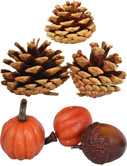 """Set of Holiday Harvest Table Scatter Faux Plants Decorations! - Perfect for Wreaths, Centerpiece Filler, Scrap-Booking and More! Pieces Measure Between 1"""" and 2"""""""