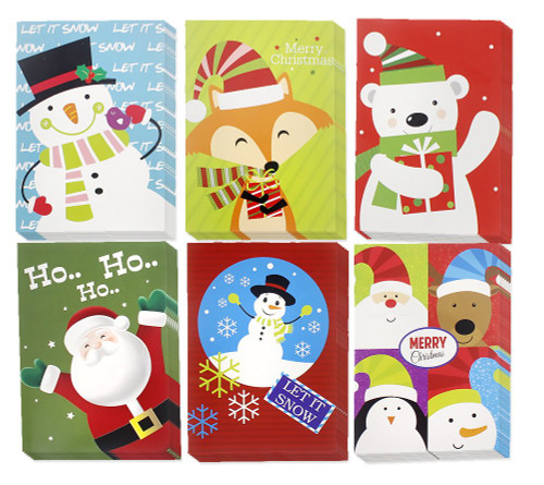 """Set of Christmas Happy Holiday Greeting Cards with Envelopes - 5""""x7"""""""