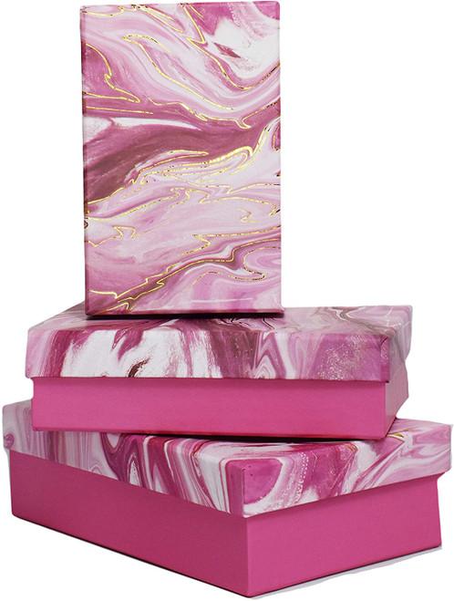 Alef Elegant Decorative Themed Nesting Gift Boxes -3 Boxes- Nesting Boxes Beautifully Themed and Decorated!