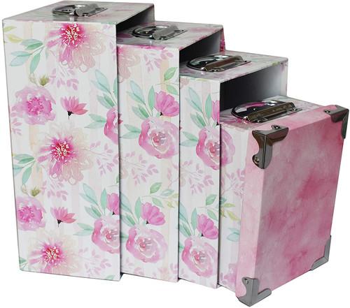 Alef Elegant Decorative Themed Nesting Gift Boxes -6 Boxes- Nesting Boxes Beautifully Themed and Decorated!