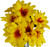 Daisy Bouquets - Set of Cemetery Vases with Artificial Daisy Flowers - Memorial Flowers