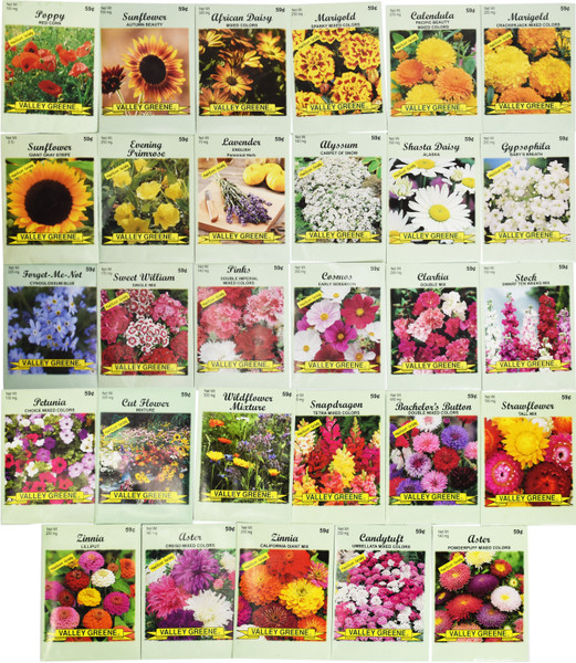 Set of 25 Flower Seed Packets! Flower Seeds in Bulk - Great for Creating The Garden of Your Dreams!