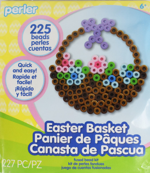 Perler Easter Basket Fuse Beads Craft Kit - Simply Put Together and Iron to Fuse
