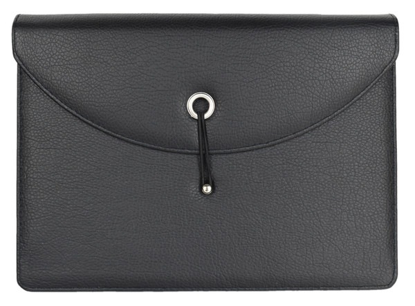 """Faux Leather Document Envelopes - Expanding - Red, Black, Brown - 13"""" W x 9.5"""" H"""