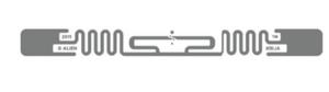 Alien Squiggle RFID White Wet Inlay (ALN-9640, Higgs-3) | ALN-9640-FWRWA
