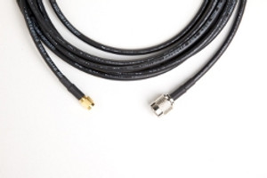 12 ft Antenna Cable (LMR-195, RP-TNC Male to SMA Male) | 195-RP-TNC-M-SMA-M-12