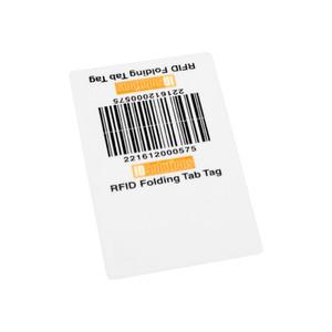 Vulcan RFID Custom Folded Tab Tag   VR-FTT-S / VR-FTT-L
