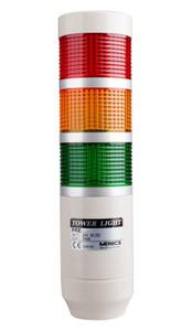 Tri-Color 24V Tower Stack Light - with 80 dB Buzzer | PREF-302-RYG-KIT