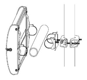 Kathrein Wide Range 30° RFID Antenna Mounting Kit | 52010005