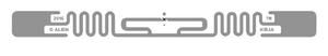 Alien Squiggle RFID Clear Wet Inlay (ALN-9840, Higgs-EC) | ALN-9840-WRC