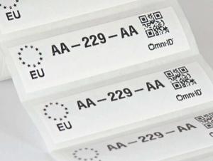 Omni-ID IQ 1200G RFID Label (866-868 MHz) - 395 Labels [Clearance]   122-EU-q395-B