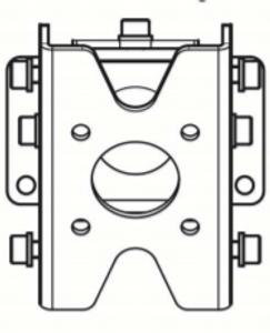 Kathrein Outdoor Wall/Pole Mounting Kit & Adapter | 52010351 + 52010368