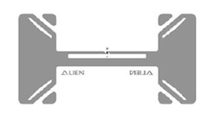 Alien Tread RFID White Wet Inlay (ALN-9874, Higgs-EC) | ALN-9874-WRW