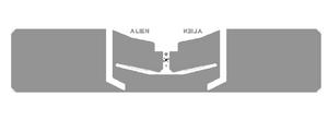Alien G RFID White Wet Inlay (ALN-9954, Higgs-9)   ALN-9954-WRW