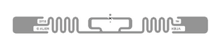 Alien Squiggle RFID Clear Wet Inlay (ALN-9940, Higgs-9) | ALN-9940-WRC