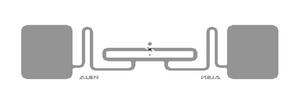 Alien Short RFID Clear Wet Inlay (ALN-9962, Higgs-9)   ALN-9962-WRC